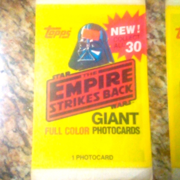 Unopened 1980 Star Wars Giant Trading Cards